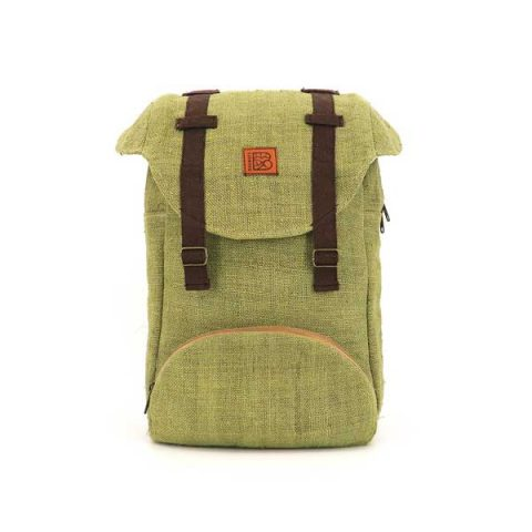 Bagmaya sustainable ethical hemp backpack Dakhla cactus green