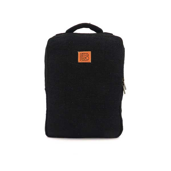 Bagmaya sustainable ethical hemp backpack Palawan black sand