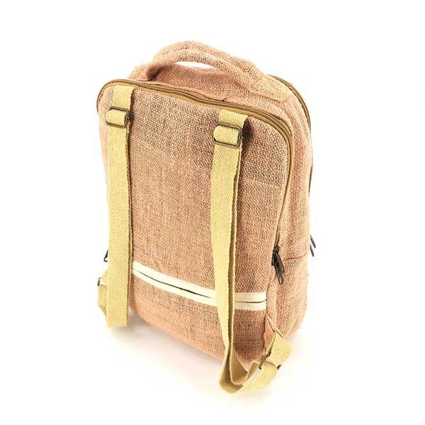 Bagmaya sustainable ethical hemp backpack Palawan pink sunrise