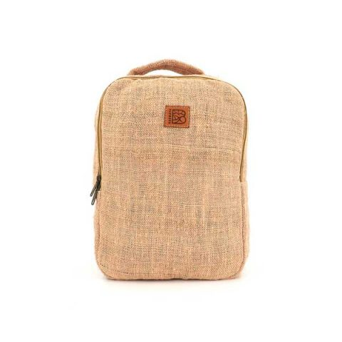 Bagmaya sustainable ethical hemp backpack Palawan pink sunrise