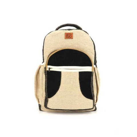 Bagmaya sustainable ethical hemp backpack Vik black sand