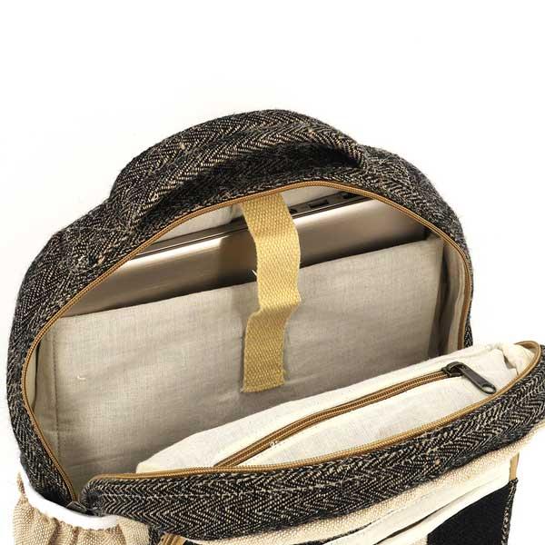 Bagmaya sustainable ethical hemp backpack Vik black sand