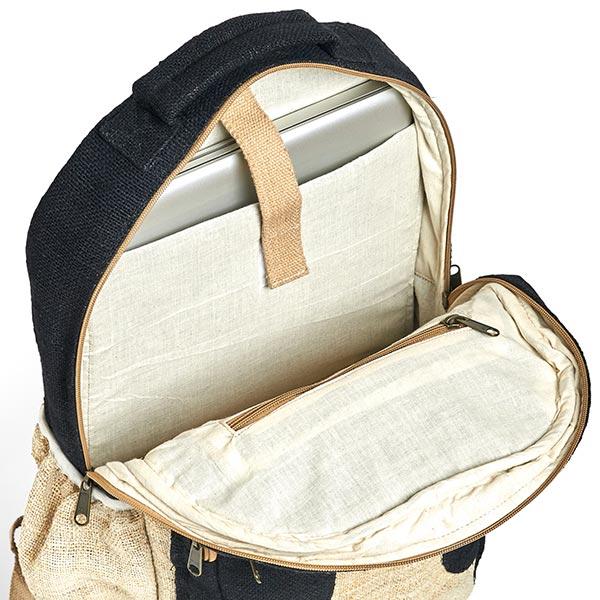 sustainable ethical eco friendly hemp backpack black