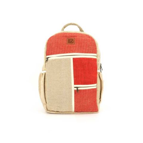 Bagmaya sustainable ethical hemp backpack Yaiza red lava