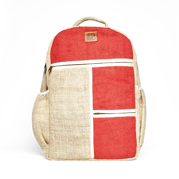 sustainable ethical eco friendly hemp backpack bag red