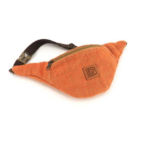 Bagmaya sustainable ethical hemp bum bag canaima terracotta