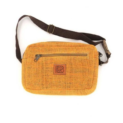 Bagmaya sustainable ethical hemp bum bag naila turmeric yellow
