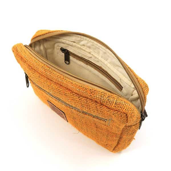 Bagmaya sustainable ethical hemp bum bag naila turmeric yellow