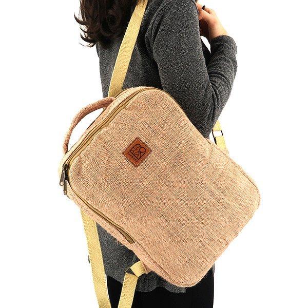 Sustainable backpack hemp pink
