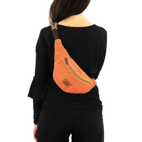 Sustainable hemp bum bag terracotta