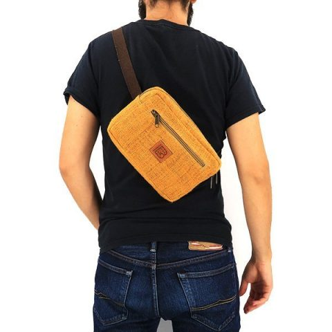 Sustainable hemp bum bag yellow