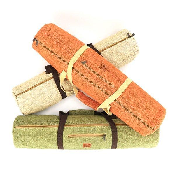 Bagmaya yoga mat bags pokhara natural hemp all colours
