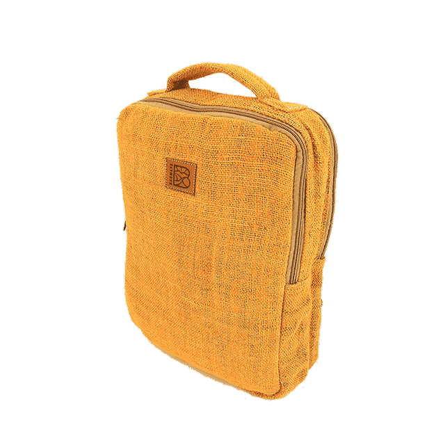 Bagmaya backpack palawan turmeric yellow front perspective transparent