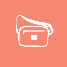 Bagmaya products sustainable bum bag naila vector