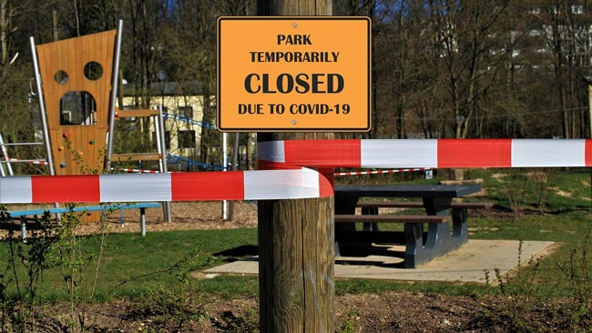 park closed due to covid-19