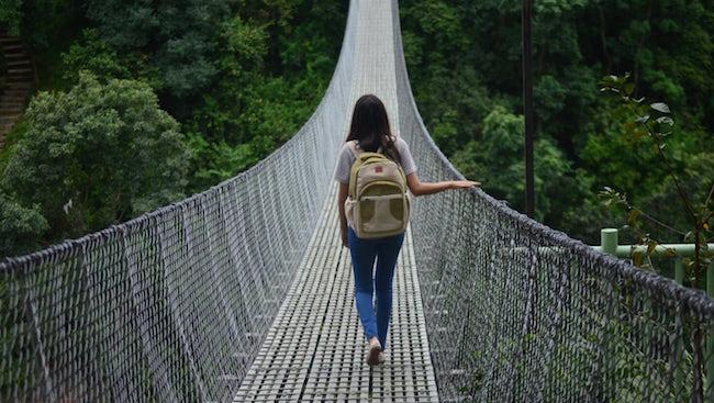 Avoid fast fashion girl bridge sustainable backpack