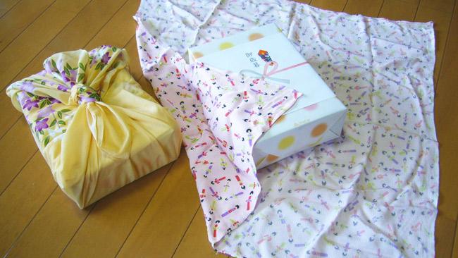 furoshiki green christmas gift wrapping