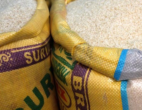Recycled rice bags as inner layers