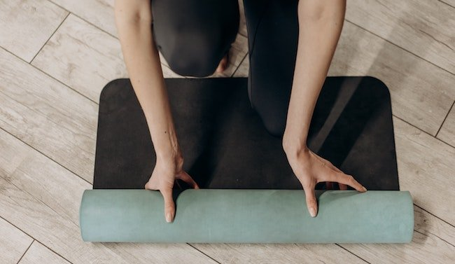 image of an eco-friendly yoga mat
