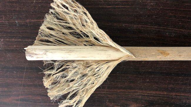 Hemp fibres separated from the hemp stalk
