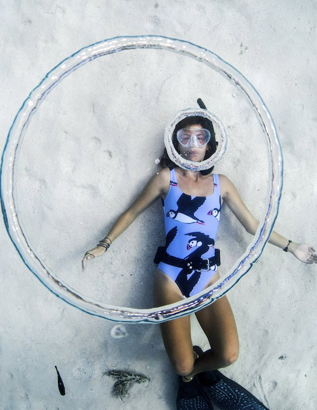 Girl wearing Batoko swimwear